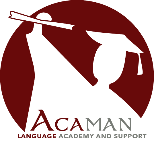 LOGO ACAMAN LANGUAGE AND SUPPORT